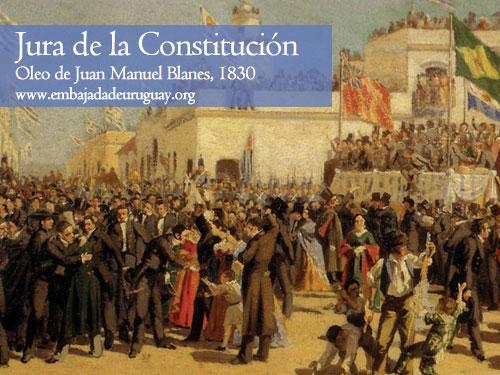 Jura de la Constitucion del Uruguay en 1830