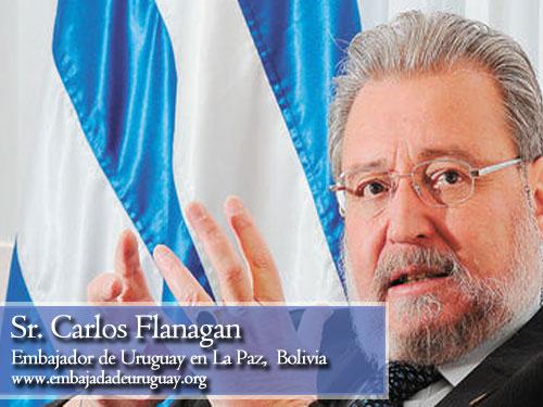Carlos Flanagan, embajada de Uruguay en Bolivia