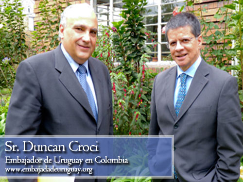 Duncan Croci, embajador de uruguay en Colombia