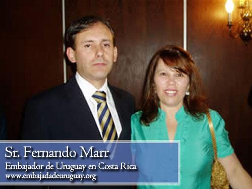 Fernando Marr, embajador de Uruguay en Costa rica