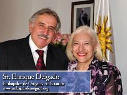 Enrique Delgado, embajador de Uruguay en Ecuador
