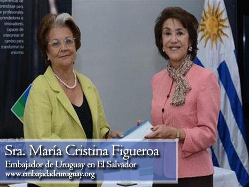 Maria Cristina Figueroa, embajadora de uruguay en El Salvador