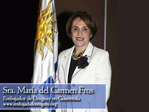 maria del carmen fros doninelli, embajadora de Uruguay en Guatemala